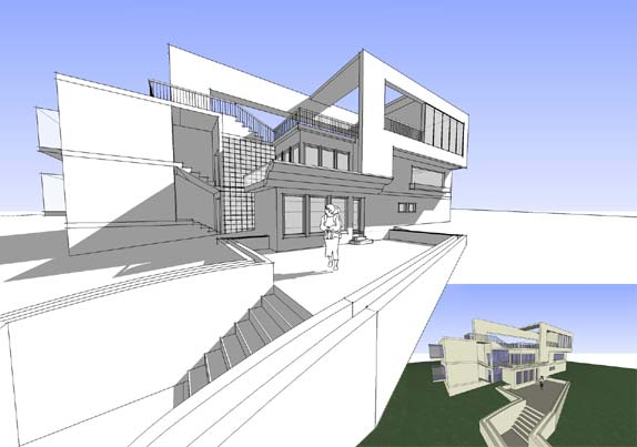 Spatialdesign sketch dwg 261 prjct 1 2008 for Architectural design with sketchup